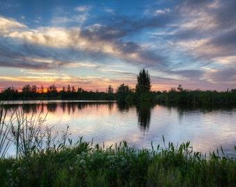Kinda Purdy- Fine Art Landscape Photograph. A Beautiful Sunset in South Florida