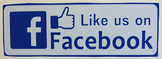 like us on facebook sticker template - items similar to like us on facebook decal sticker 3 3 4