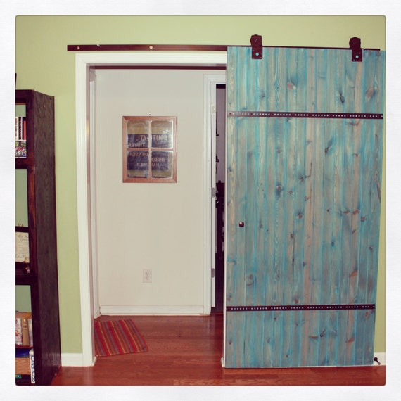Items similar to reserved for kayla double barn door - Reclaimed wood interior barn doors ...
