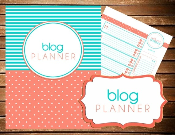 Instant Download - Blog Planner - Blog Printable  - Printable Planner Organizer  - (Organized Family Binder)