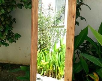 wood mirror floor mirror  53,5 x 22,5