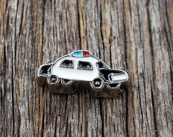Police Office Car Floating Charm for Memory Locket