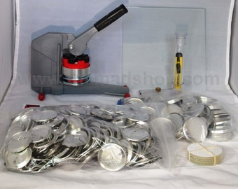"2 1/4"" inch Pin Badge Button Maker Machine Set (Complete Button/Badge Making Kit)"