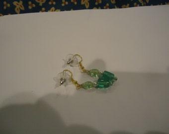 Aqua Beaded Earrings