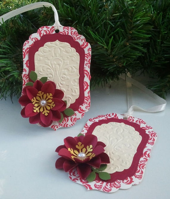 Items similar to Handmade Holiday Tags- Christmas Tags ...
