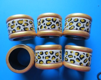 cheetah print napkin rings