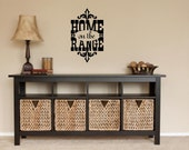 Items Similar To Home On The Range Western Vinyl Wall