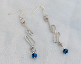 Silver tone Slim Line Earrings