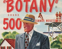 1948 Botany 500 Men's Double Breasted Suit print ad Summer worsteds Tailored by Daroff