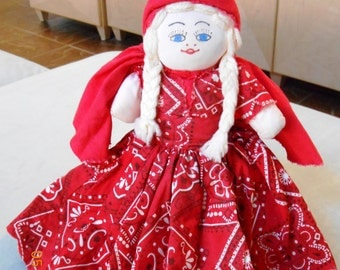 Vintage Flip Doll - Red Riding Hood