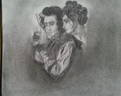 Sweeney Todd fan art charcoal