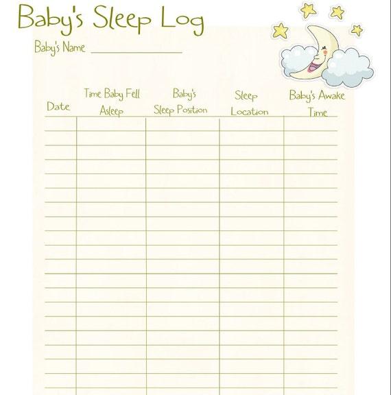 ... Sleep Log / PDF/ Digital Health forms/ Printable / Instant Download
