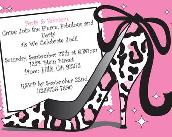 Forty and Fabulous Birthday Invitation