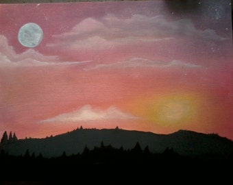Sunset Mountain Scene