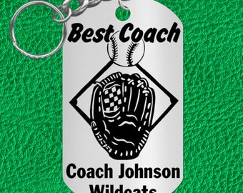 BASEBALL Coach Gift, Personalized FREE with Names and Team, Custom Made