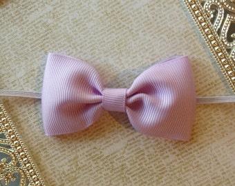 Baby Headband - Baby Bow Headband - Bow Headband - Newborn Headband - Lavender Bow Headband - Lavender Headband - Toddler Headband