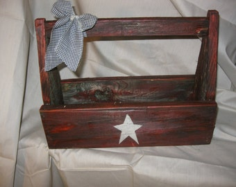 Primitive Americana Wooden tool box