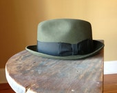 Vintage Andhurst Fedora Green Brown Black Imported Fur Men Ladies Cool Derby Hats Mad Men Horse Races Accessories
