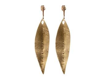 Women Dangle Earrings, Leaf Earrings, Brass Earrings.