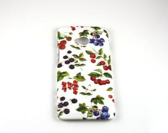 Berries Retro HTC One M7/M8 /X/S Hard Case Skin Cover