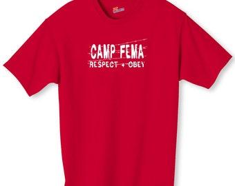 Camp Fema Political Shirt S-2XL