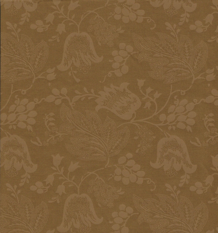 dutch chintz dark ochre ton sur ton. Black Bedroom Furniture Sets. Home Design Ideas