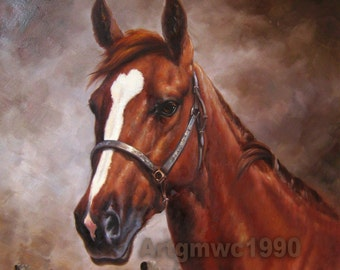 Sold - Horse portrait oil painting on canvas - Frame not included