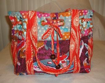 Tote Bag Diaper Bag, Anna Maria Horner fabric