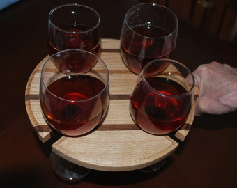 Wine serving tray