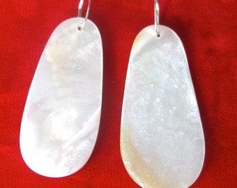 Pair of Mother-of-Pearl Earrings