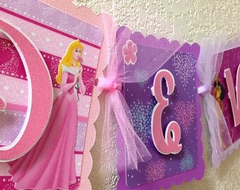 Disney Princess Birthday Banner girl party decorations