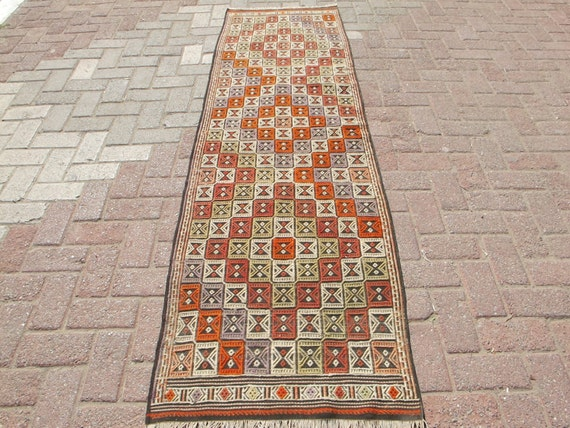 "Anatolian Turkish Kilim Rug Carpet 81.8"" x 27.1"""