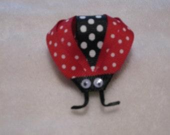 Lady Bug hair bow, Spring hair bow, Bug hair bow, insect hair bow