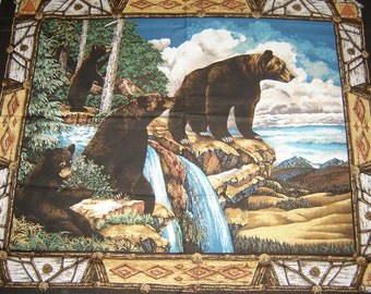 Per Panel, Black Bear Mountain Fabric