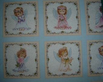 Per panel, Angels and Fairies fabric collection