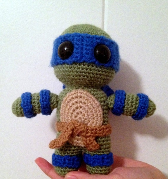 Amigurumi Ninja Turtle : TMNT amigurumi doll teenage mutant ninja by TheCraftingMuse