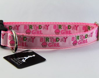"Birthday Girl Dog Collar 1"" wide"