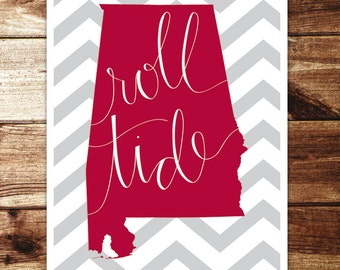 Alabama: Roll Tide Print