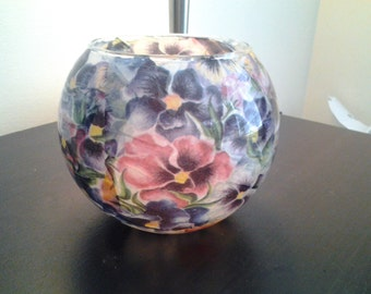 Handmade tissue paper glass bowl