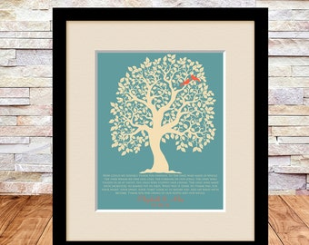 Personalized Parents Wedding Gift, Brides Parents, Grooms Parents, Mother of the Groom, Mother of Bride, Wedding Tree