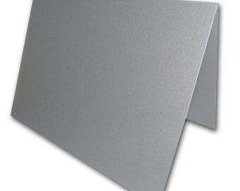 Blank Metallic Silver Place Cards 25 pack