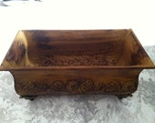 Vintage Brown Decorative Scroll Planter Bucket - 4evrVintage