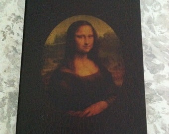 Vintage Mona Lisa Jewelry Home Decor Large Storage Box