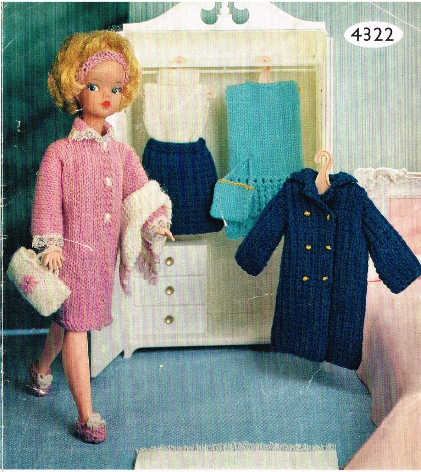 Dolls clothes knitting pattern. Teenage 12 doll Barbie