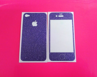 Purple Ultra Metallic iphone 4/4s Skin