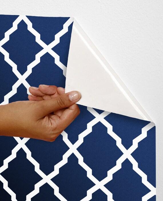 Removable self adhesive modern vinyl wallpaper by for Temporary vinyl wallpaper