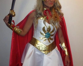 shera corset costume with metal bone and very high quality
