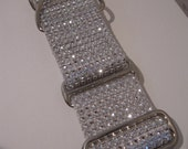 "Taylor's Wedding Bling.  2"" White Bling, Faux Rhinestone Martingale or Quick Release Dog Collar"