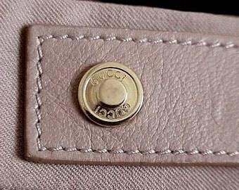 New Vintage Authentic GUCCI PANTS  Camel in Color GP Logo Buttons European Size 38
