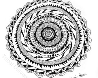 Tribal Circle - Pen and Ink Drawing